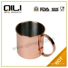 16oz stainless steel Moscow Mule Copper Mug