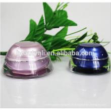 Gewölbte Phantasie Kunststoff Acryl Gläser für Kosmetik 5ML 15ML 30ML 50ML