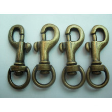 Metal de encargo del precio de fábrica Gancho de presión de cobre amarillo del gancho del gancho de presión / del perro
