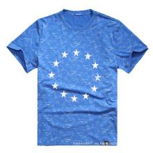 Camisetas de la impresión de los hombres del OEM de la fábrica Camisetas 2017 del cuello redondo de la algodón