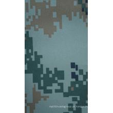 Tecido de camuflagem resistente ao fogo 300d com revestimento de PU