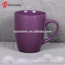 Tasse à café en grès cérame violet 12 oz