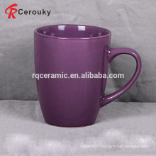 12oz purple ceramic stoneware coffee mug