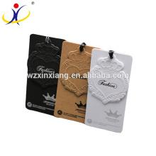 Hohe Qualität Fabrik Preis Karton Etiketten Kleidung Kleidungsstück Hang Tag Papier Hängen Tags