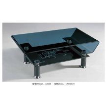 Modern Black Glass Table for Living Room (A006)