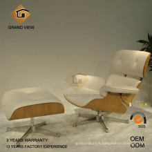 Chaise de loisirs cuir bois naturel (GV-EA670)
