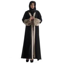 Vente chaude Moyen Abaya Femmes Arabe Turquie brodé perle longue robe maxi