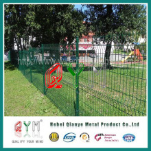 Green Powder Coated Wire Fence/Welded Metal Fence (Professional Manufacturer)