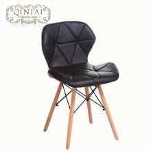 Оптовая продажа Китай Alibaba мебель кожа бук мягкий обеденный кофе закуска стул