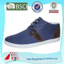 Preço de fábrica alta qualidade barato injeção lona sapatos para homens