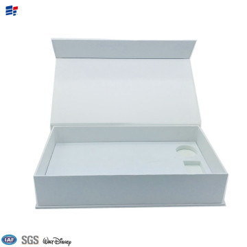 OEM for Book Shape Electronic Paper Box Cardboard folding paper magnet electronic box export to Italy Importers