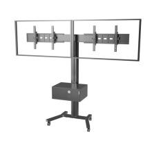 "Public TV Floor Stand Wheelbase Dual Screens 30-60"" Mediabox (AVA 203B)"