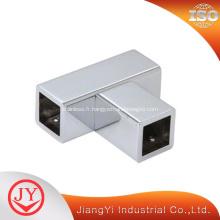 Connecteur en T en tube carré en acier inoxydable