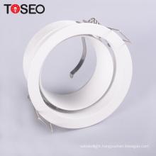 recessed adjustable cob round anti-glare deep cup led ceiling downlight fixture