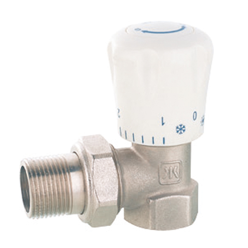 J3001 Hand controlled forged brass angle radiator valve