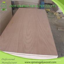 Contreplaqué commercial de bois dur de 3mm 5mm 9mm 12mm 15mm 18mm avec le prix concurrentiel