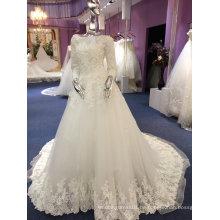Eine Linie / Prinzessin volle Hülse Qualitäts-ODM Hochzeits-Kleid