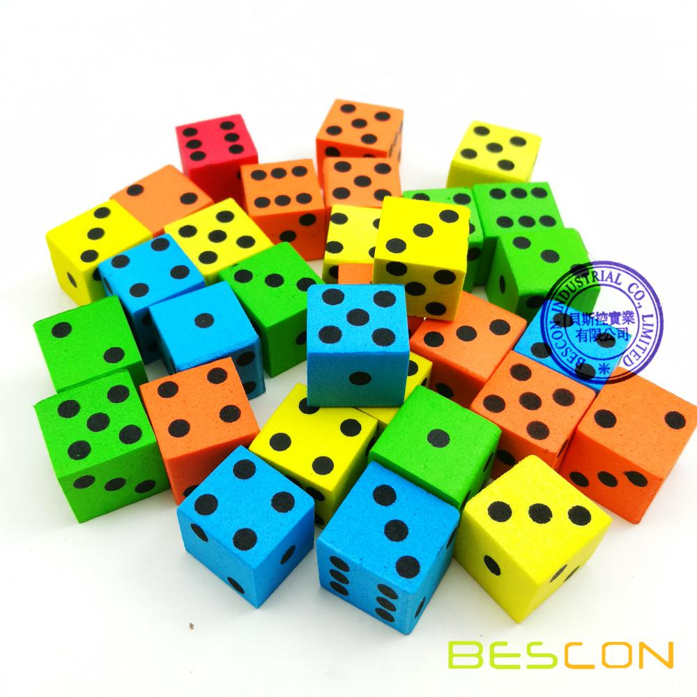 200pcs 16MM Soft Foam Dice Set in Dice Pot