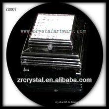 Base lumineuse en plastique noire de LED pour le cristal
