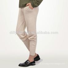 Pantalones de chándal de punto casual 100% de mujer