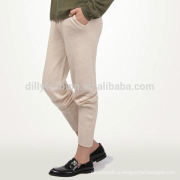 Женские повседневные трикотажные 100% кашемир спортивные брюки