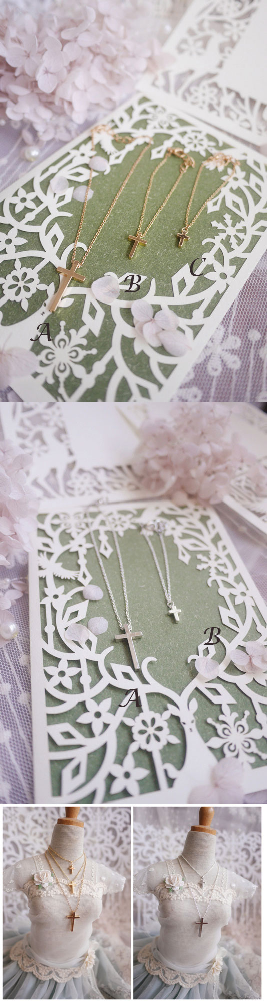 Gold/Silver Cross Necklace For SD/MSD/YSD
