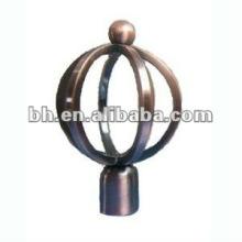 Neue Design antike Messing Vorhang Stange Ball Finials