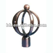 new design antique brass curtain rod ball finials