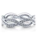 Sterling Silber mit Zirkonia Woven Ewigkeit Ring 925 Silber Schmuck