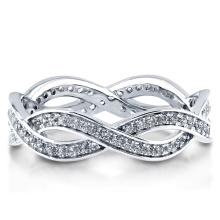 Bague Argent Sterling avec Zirconia Eternity Ring 925 Bijoux en Argent