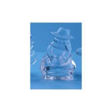 Portacandele Tealight Glass Snow Man