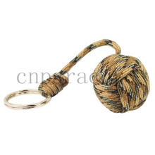 "Coyote Brown Camo monkey fist 9"" long 1.5"" steel ball best survival gift"