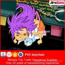 Wholesale cheap custom 3d pvc rubber keychain cartoon