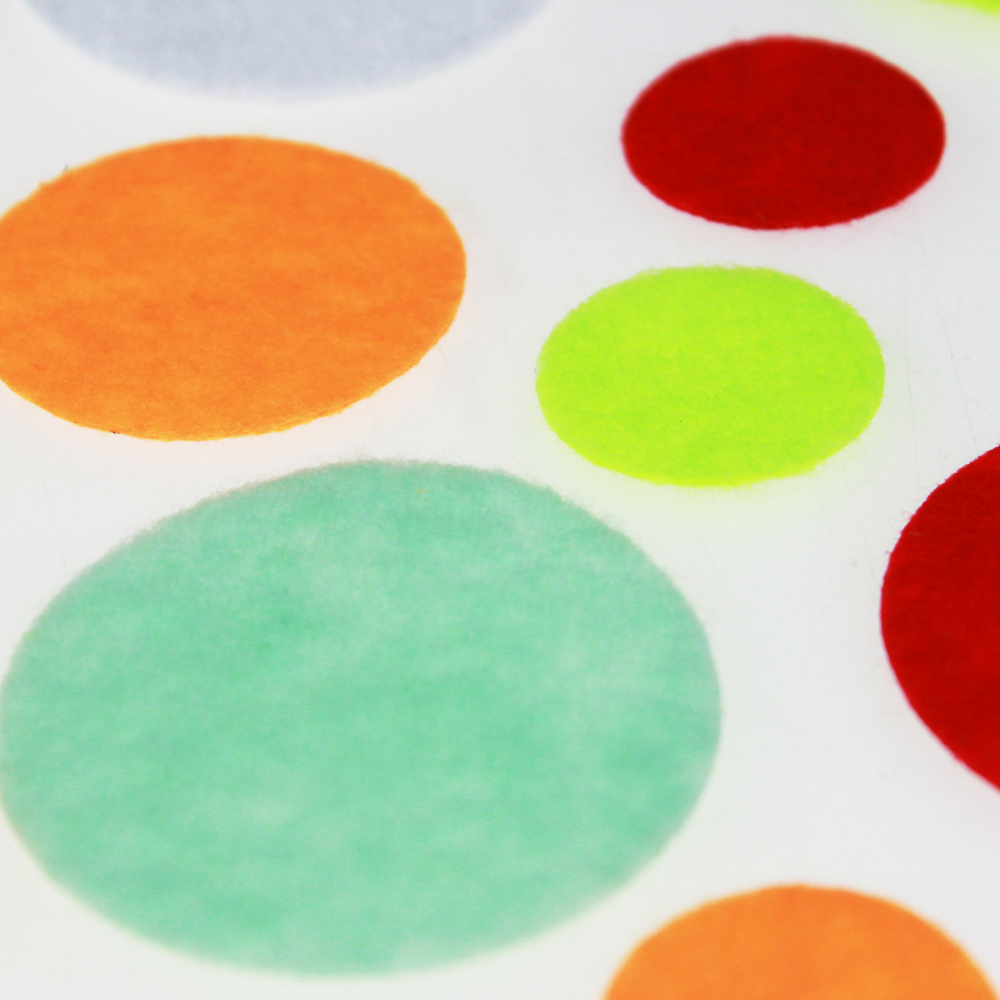 Felt dot decoration