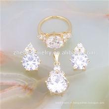 bijoux joailliers 18k ensemble de bijoux en plaqué or