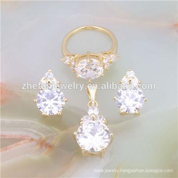 fashion jewellers 18k gold plated jewelry set