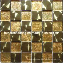 Mosaïque en mosaïque en métal or métal mélangé (SM201)