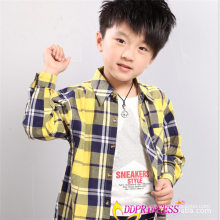2015 factory sales directly casual long sleeve cotton baby boy polo plaid shirt