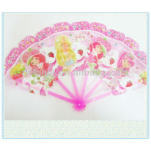 Cute cartoon plastic folding hand fan