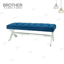 Beautiful french style bed metal bench stool dressing room bench