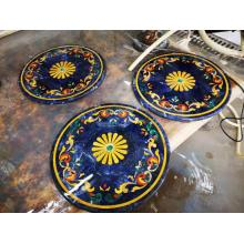 Blue sodalite round table