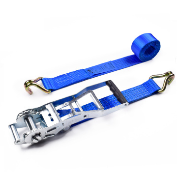 "2 ""5 Tấn 50mm Bán buôn ERGO Binding Ratchet Buckle Tie Down Straps Belt With 2 Inch Double J Hook"