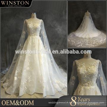OEM-Hersteller Brautkleider plus Größe mit Ärmeln