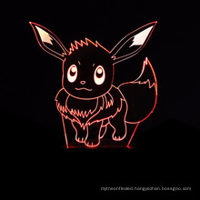 3D Lamp Illusion Night Light Eevee 7 Colors Changing Decorative Desk Lamp for kids Bedrooms