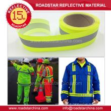 Reflexiva de segurança durável para vestuário de trabalho