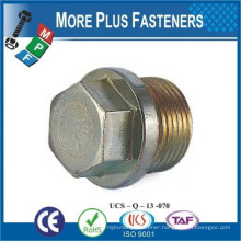 Made in Taiwan DIN 910 Hexagon Head Screw Drain Plug A4 Stainless Steel and Carbon Steel Zinc Plated