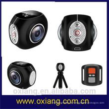 Mais barato 360 graus mini hd esporte digital câmera de vídeo impermeável câmera de ação sem fio