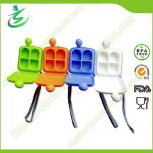 Boîte à pilules miniature carrée en plastique avec 4 compartiments, boîte à pilules