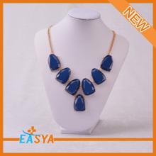 Blue Stone New Fashion Rhinestone Necklace Jewelry