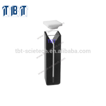T-BOTA ES Quartz Glass Q-127 Micro cell with black walls and with lid